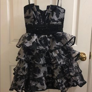 ROBERTA strapless cocktail party dress